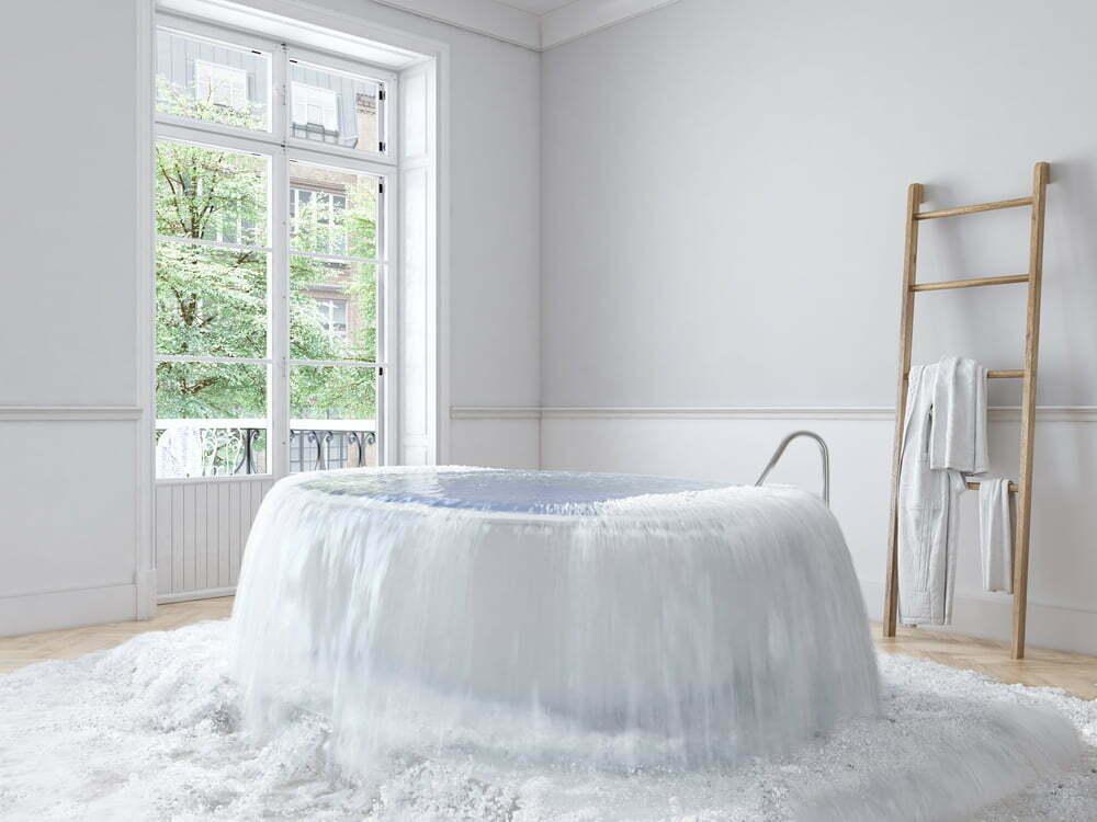 Bath tub over flowing
