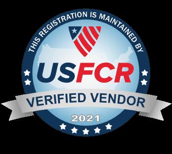 USFCR Verified Vendor 2021 seal