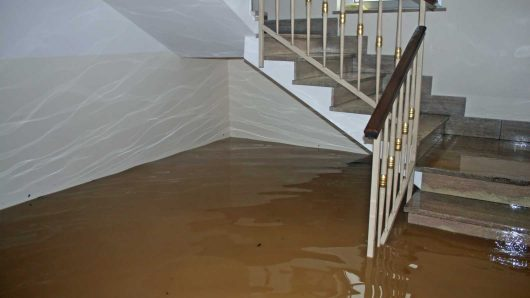 flood damage inside of a home